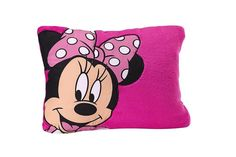 Disney Minnie Mouse Toddler Pillow Pink Bow Girl Kid Bedroom Fleece Decor NEW  #Disney