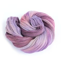 Handdyed sock yarn, purple pink fingering wool, 4ply superwash merino cashmere…