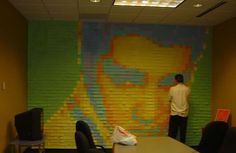 Elvis in post-it notes. - 20 Unusually Awesome Art Mediums - My Modern Metropolis Arte Post It, Post It Art, Pixel Art, Image Internet, Post Its, Modern Metropolis, Unusual Art, Fantasy, Medium Art