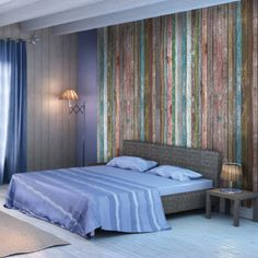 1000 images about bord de mer on pinterest articles - Tete de lit papier peint imitation cuir ...