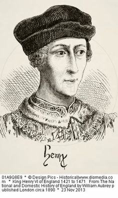 King Henry VI of England 1421 to 1471 From The National and Domestic History of England by William Aubrey published London circa 1890