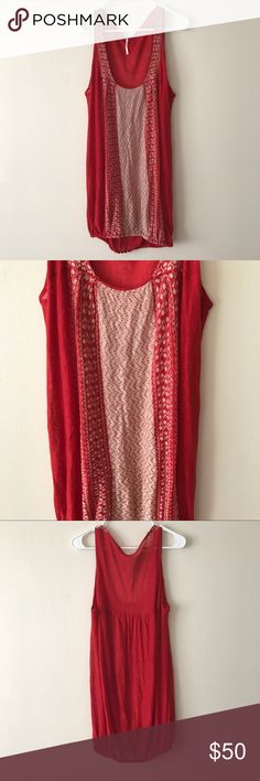 Free People Knit Dress Super cute knit dress from Free People! It hugs at the bottom. There is a 3/4 inch hole on the left side of the dress, but nothing that can't be fixed. Normal signs of wear, but otherwise it is in good condition! 100% linen Free People Dresses