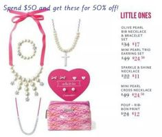 We have your little ladies covered too! Perfect jewels for little girls from 3 to 13+! Surprise! Half off savings when you shop or host a trunk show in December!!   www.stelladot.com/candita