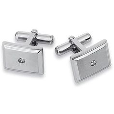 $179 sales Men's Diamond Accent Stainless Steel Cuff Links
