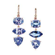 25 Pieces of Eye-Catching Gemstone Jewelry - Gemstone Jewelry: Irene Neuwirth tanzanite earrings - Jewelry Logo, Cute Jewelry, Jewelry Tattoo, Jewelry Quotes, Jewelry Stand, Girls Jewelry, Dainty Jewelry, Cheap Jewelry, Etsy Jewelry