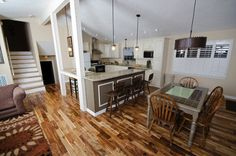 Tri Level Open Kitchen remodel - this is almost exactly our floor plan and how I'd like to open it up.