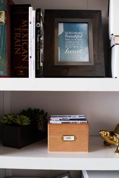 DIY card box - make cards and place inside a cigar box to display at your home or give as a gift. You'll have cards ready to go whenever you need them!