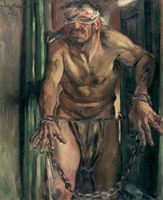 The Blinded Samson by Lovis Corinth via DailyArt mobile app http://www.getdailyart.com/22287/the-blinded-samson