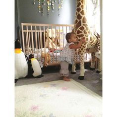 large stuffed animals for nursery | Giant stuffed animals make the nursery magical. We LOVE our giraffe ...