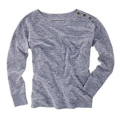 saturday morning sweatshirt by madewell... nothing i love more than button crew necks. :)