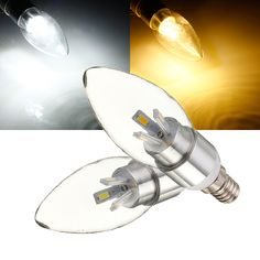 E14 4W White/Warm White Glass 5630 SMD 6LED Candle Bulb Light 110-240V