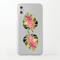 Tropical Leaf Monstera khaki-rose Clear iPhone Case by schimoni_art Tropical Leaves, Iphone Cases, Rose, Art, Art Background, Pink, Kunst, Iphone Case, I Phone Cases