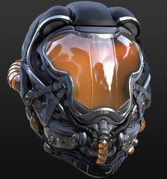 Helmet Concept Ryan Love on ArtStation Helmet Armor, Suit Of Armor, Body Armor, Skull Helmet, Futuristic Helmet, Futuristic Armour, Armor Concept, Concept Art, Custom Motorcycle Helmets