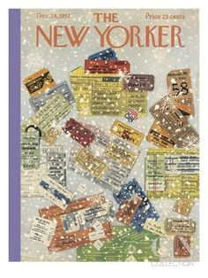 The New Yorker Cover - December 28, 1957 Premium Giclee Print