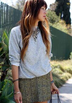 grey sweatshirt made cool