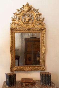 Gilt wood French Regence mirror, early 18th century, Julia Boston Antiques, UK