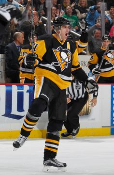 November 17, 2015 vs. Minnesota: Evgeni Malkin celebrates after scoring his 100th-career power-play goal. Malkin finished with a team-best four points (2G-2A). Final score, 4-3 Penguins.