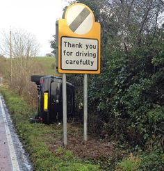 Thank you for driving carefully.