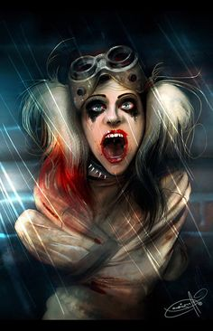 Harley Quinn on her way to Arkham, by Maxim Malstev