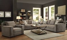 Acme Furniture Ushury Gray Living Room Set