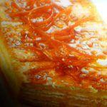 Torta con biscotti secchi con arancia