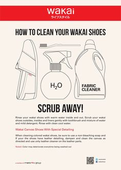 clean your WAKAi shoes