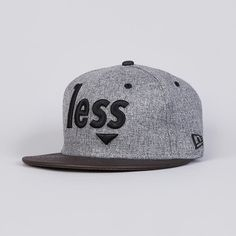 Less New Era Snapback Charcoal