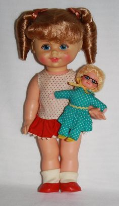 little kiddles dolls from the 1960s | Buffy and Mrs. Beasley Vintage Doll