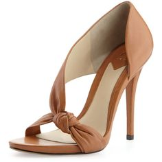Women's Chryssa Knotted Leather Sandal, Brown - B Brian Atwood