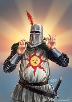 My favourite character from Dark Souls Solaire of Astora Dark Souls 3, Dark Souls Armor, Dark Souls Solaire, Deviant Art, Fantasy Character Design, Character Inspiration, King Arthur Legend, Fantasy Words, Funny Wallpapers