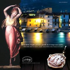 danzatrice Canova e gioiello cammeo Silvia Kelly con diamanti in oro 18kt - www.quelchevale.it