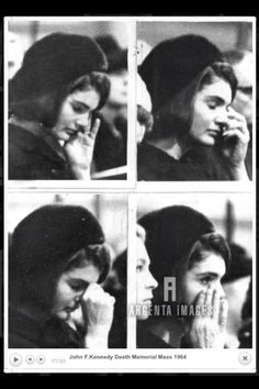 A grieving Jackie sits next to Joan at a memorial mass for the late president, January 1964.