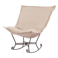 Have to have it. Howard Elliott Scroll Puff Rocking Chair - $336.6 @hayneedle Item # HN-HE986