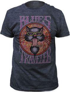 3aa954044e0 Blues Traveler Cat Logo Men s Vintage T-shirt