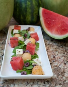 Local #watermelon is in season in #Michigan - Emma Currie of The Brass Café in Mt. Pleasant shares three recipes using watermelon: watermelon, feta & olive salad, watermelon, peach, chicken & dill salad on croissant, and a wine watermelon spritzer. Follow the link for recipes, photos and video: