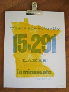 Minnesota Infographic Letterpress Poster by fontlove on Etsy, $21.00
