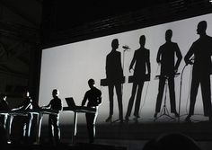 Legendary German band Kraftwerk take the stage at the 2009 Manchester International Festival