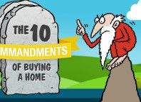 The Ten Commandments Of Buying A Home (Infographic)