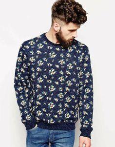 ASOS | Bellfield Sweatshirt With Floral Print #asos #sweatshirt