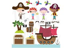 Check out Pirate Clip Art by YenzArtHaut on Creative Market