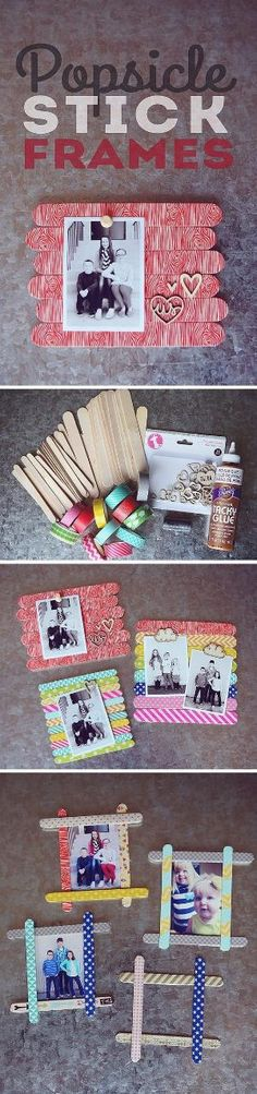 DIY gift ideas for mom from kids - cute DIY picture frame - easy craft gift for kids to make by gretchen