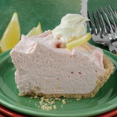Pink Lemonade Pie Recipe from Taste of Home -- shared by Nella Parker of Hersey, Michigan