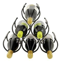Give your wine pride of place with Twine wine shrine bottle holder. Crafted from antiqued metal, the rustic 6 bottle rack has clean, elegant lines that complement any decor and a compact size that's perfect for small spaces or countertops. Countertop Wine Rack, Café Bar, Bar Cart, Wine Gift Baskets, Wine Bottle Holders, Wine Bottles, Italian Wine, Italian Cooking, In Vino Veritas