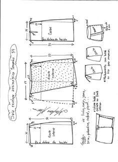 Asymetrická schéma modelování pláště obruby velikosti 54.