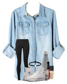 """so bored rn"" by cassieq6929 ❤ liked on Polyvore featuring The Row, S'well, NARS Cosmetics, L. Erickson, Lokai and Converse"