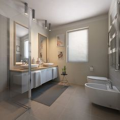 The expansion and creation of our communities has got a huge effect on our natural surrounding, green building can help limit that in fact effect. Bathroom Interior Design, Home Interior, Interior Decorating, Bad Inspiration, Bathroom Inspiration, Sustainable Architecture, Green Building, Building Plans, Modern Bathroom