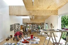 Martin Poppelwell's artist studio by Ashely Cox in New Zealand | Remodelista