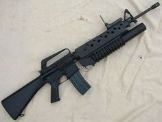 M16 with M203 ... My assigned service weapon.