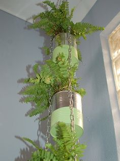 Recycled Can Plant Holder