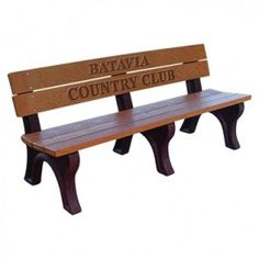Memorial Park Benches from The Bench Factory